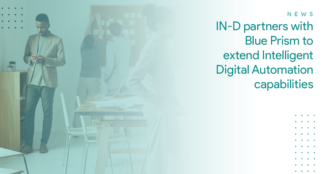 IN-D AI partners with Blue Prism to extend Intelligent Digital Automation capabilities