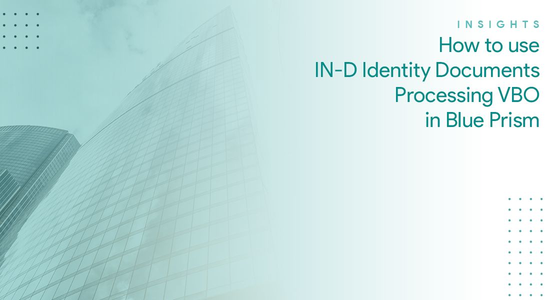How to use IN-D Identity Documents Processing VBO in Blue Prism